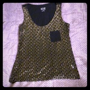 Black and Gold Tank Top, size small